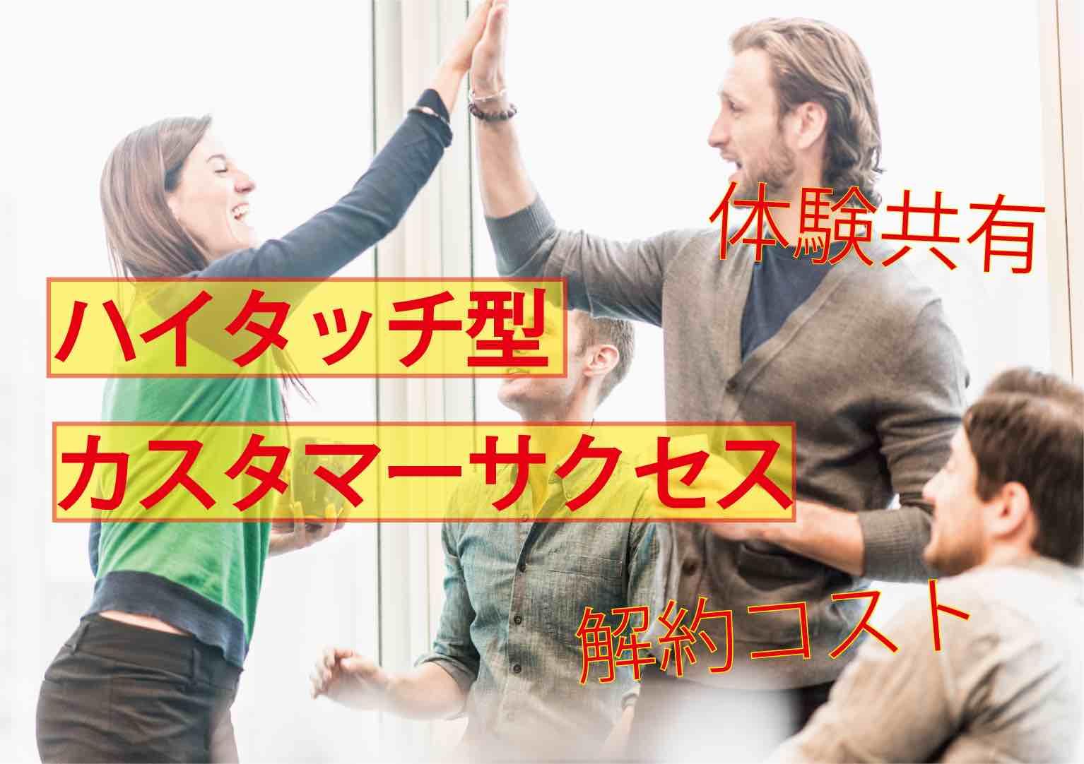 【ハイタッチ型】カスタマーサクセスマーケティング【サブスク】